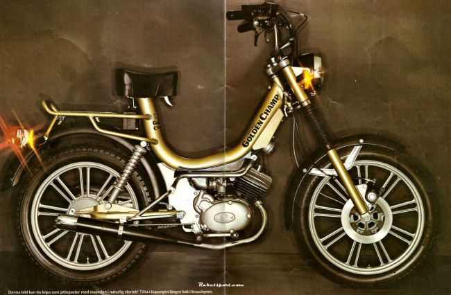 Gc Plansch on Morini Moped Gyromat